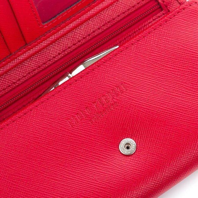Skórzany portfel damski czerwony Paolo Peruzzi Saffiano S-01