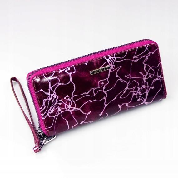 Skórzany portfel damski fioletowy Lorenti 76119