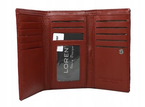 Skórzany portfel damski różowy Lorenti 55020