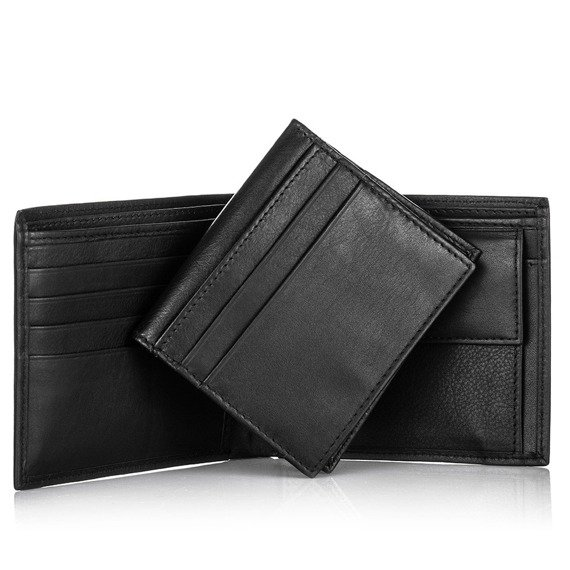 Skórzany portfel męski 2w1 PAOLO PERUZZI GA175 brązowy