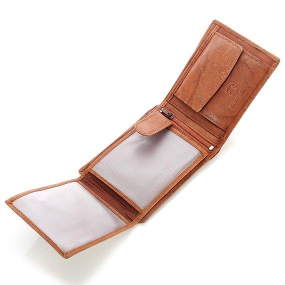 Skórzany portfel męski Bag Street GA189 czarny