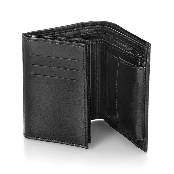 Skórzany portfel męski Brodrene A-10 brązowy