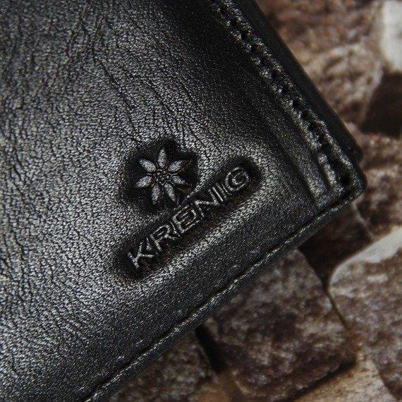 Skórzany portfel męski KRENIG Classic 12040 czarny