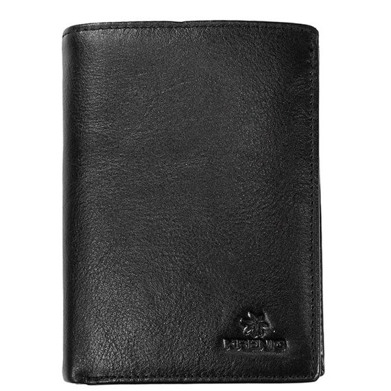 Skórzany portfel męski KRENIG Classic 12088 czarny w pudełku