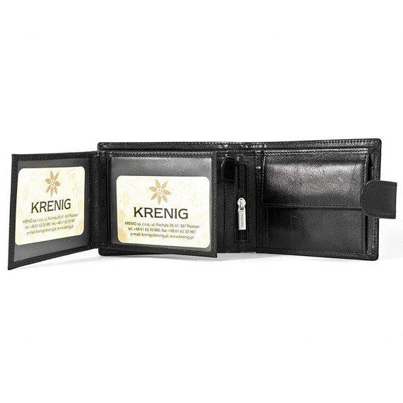 Skórzany portfel męski KRENIG El Dorado 11080 czarny