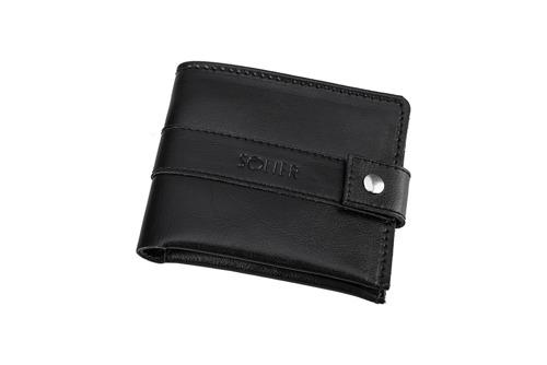 Skórzany portfel męski SOLIER SW05 czarny