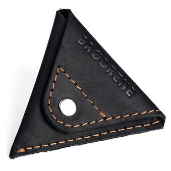 Skórzany zestaw portfel i bilonówka BRODRENE SW01 + CW01 czarny