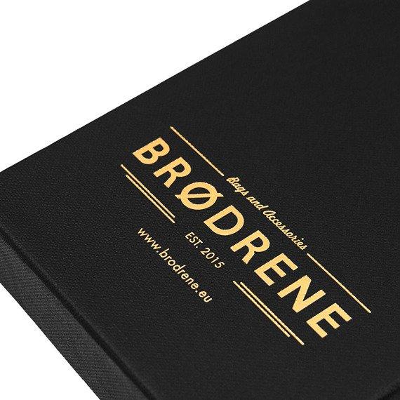 Skórzany zestaw portfel i bilonówka BRODRENE SW01 + CW01 szary