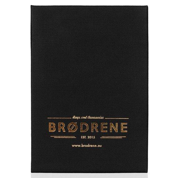 Skórzany zestaw portfel i bilonówka BRODRENE SW01 + CW02 jasnobrązowy