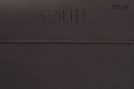 Sportowa torba weekendowa męska Solier ciemnobrązowa