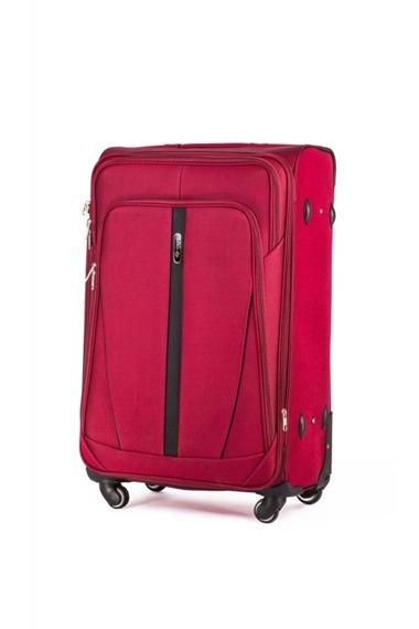 Średnia walizka miękka M Solier STL1706 czerwona