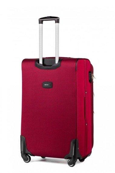 Średnia walizka miękka M Solier STL1708 czerwona