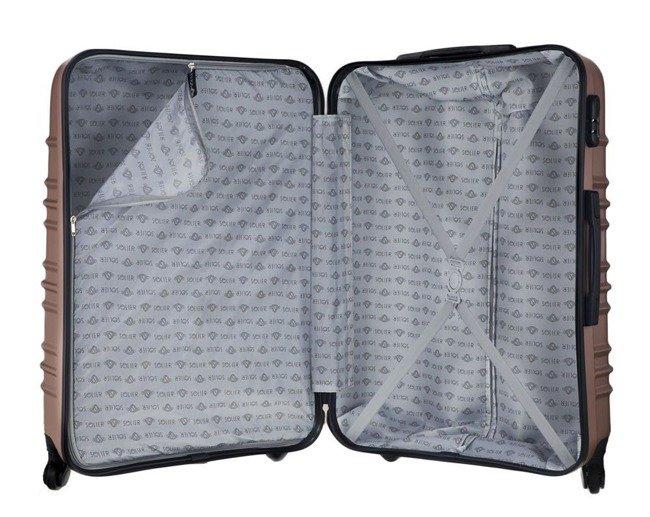 Średnia walizka podróżna STL838 rose gold
