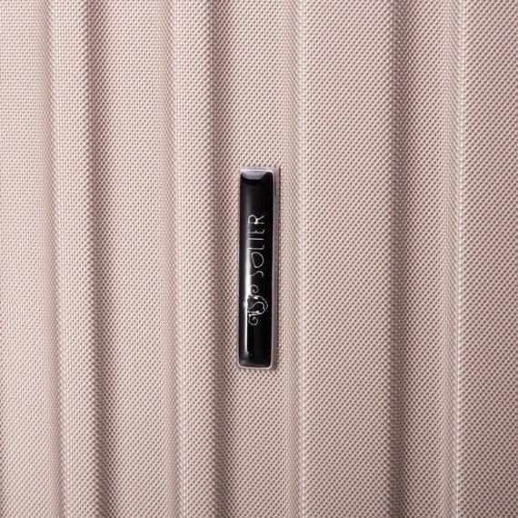 Średnia walizka podróżna na kółkach SOLIER STL2011 M ABS bordowa