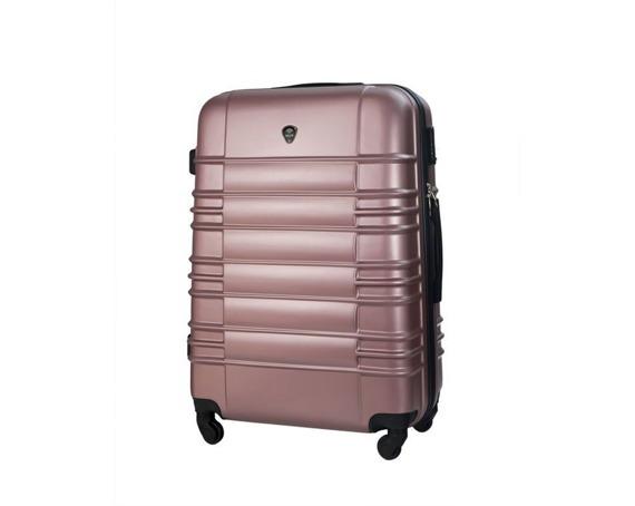 Średnia walizka podróżna stl838 metaliczny róż
