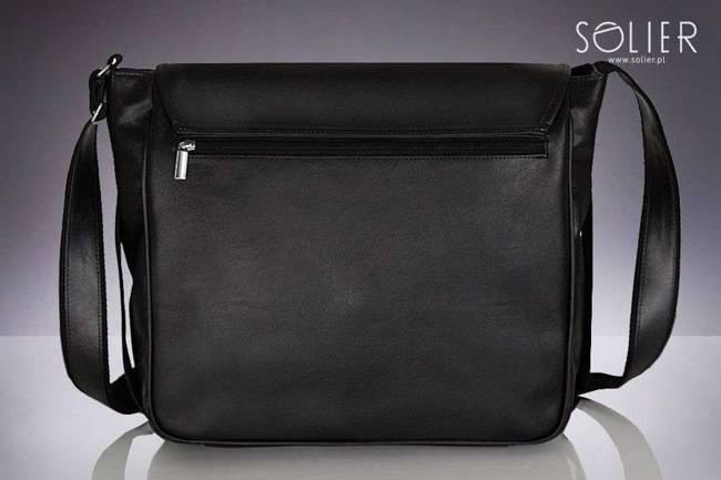 Stylowa torba męska na ramię SOLIER S12 czarna