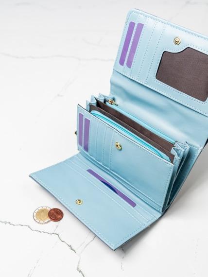 Stylowy portfel damski Milano Design niebieski