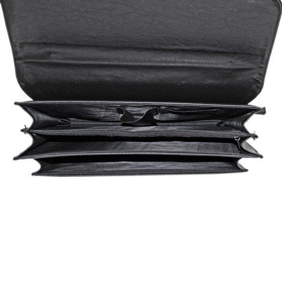 Teczka aktówka męska ze skóry ekologicznej DAN-A D725 czarna