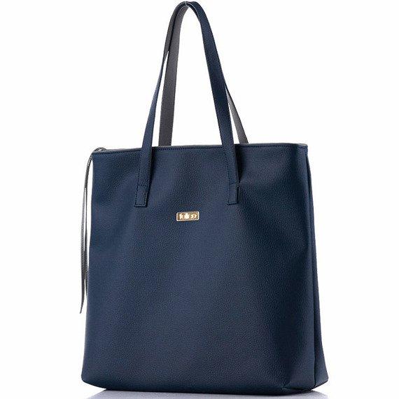 Torba damska shopper bag FELICE D01 Verona granatowa