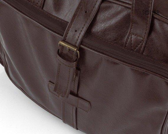 Torba męska na ramię, torba na laptopa SOLIER S10 oldschool brązowa