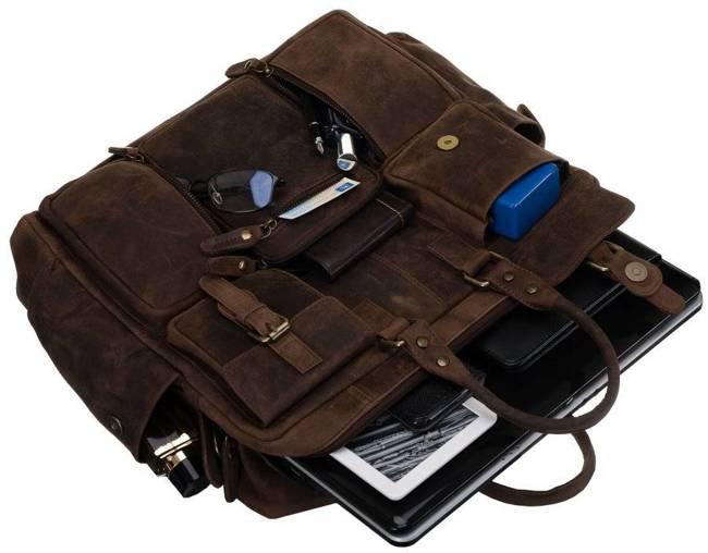 Torba na laptopa brązowa Badura LAP-31703-TGH-NL BRO
