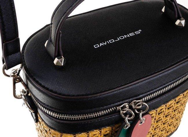 Torebka damska kuferek czarna David Jones 6246-1