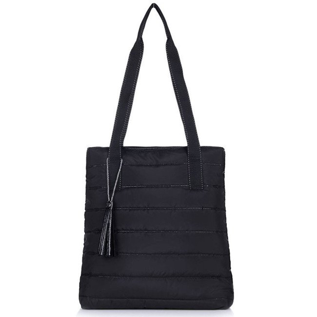 Torebka damska pikowana shopperka Felice FB46 czarna
