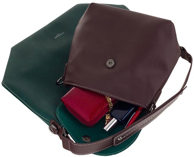 Torebka damska shopper bag 2w1 bordowa David Jones CM5325A