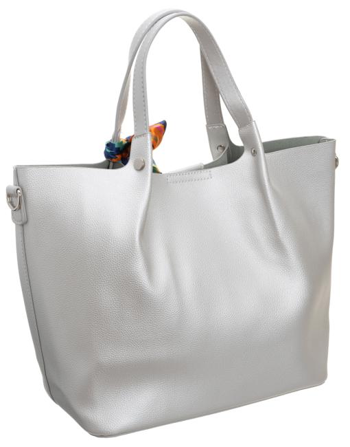 Torebka damska shopper bag srebrna David Jones CM5623