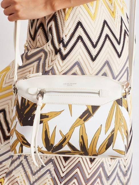 Torebka damska sztywny kuferek David Jones biały 5938-1 WHITE