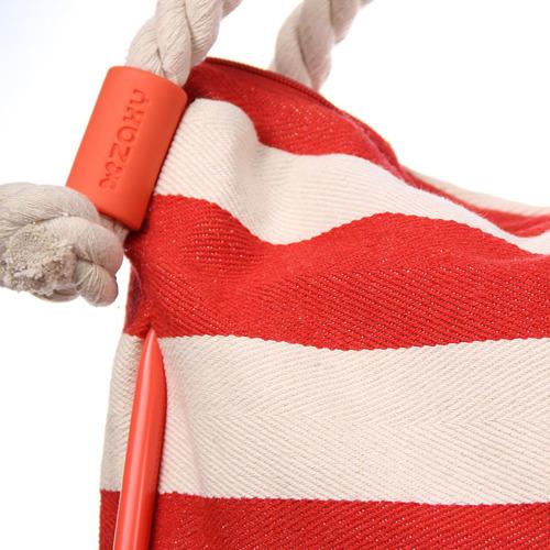 Torebka damska w paski czerwono - biała ZAXY ZZ0006
