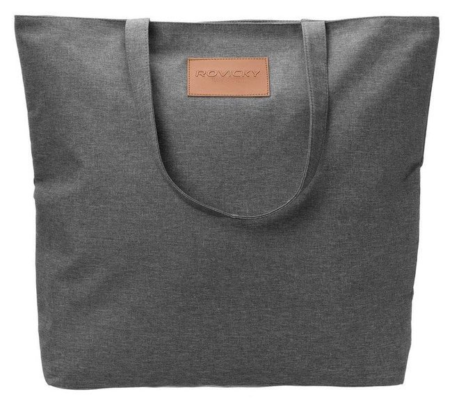 Torebka ekologiczna shopperka tekstylna A4 Rovicky czarna