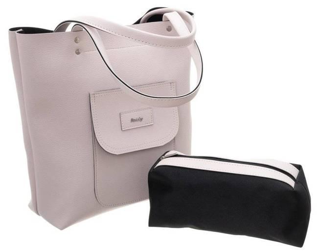 Torebka shopper bag 2w1 duża A4 Rovicky różowa 1335