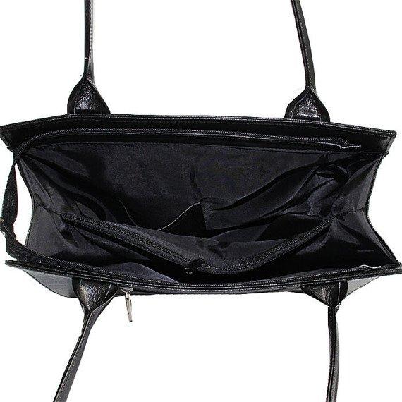 Torebka skórzana damska DAN-A T246 czarna