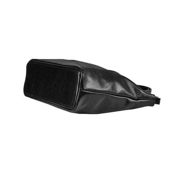Torebka skórzana damska kuferek DAN-A T208A czarna