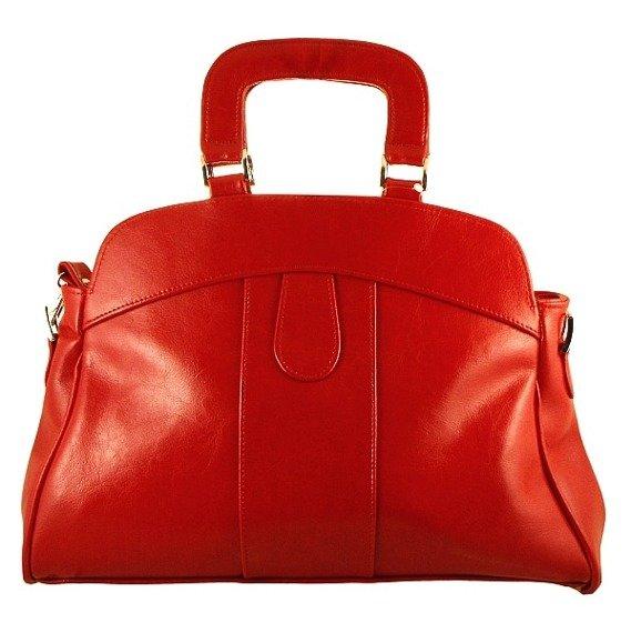 Torebka skórzana damska kuferek DAN-A T25 czerwona