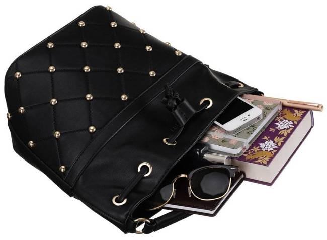 Worek damski czarny Monnari BAG1390-020