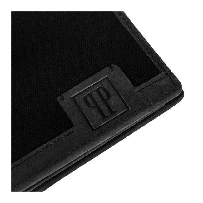 Zestaw PAOLO PERUZZI portfel T-02+ torba męska T-07 ZUP-08-BL