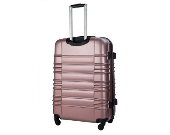 Zestaw walizek podróżnych STL838 metaliczny róż