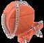 Okrągła listonoszka pikowana David Jones koralowa CM5703