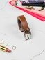 Pasek damski skórzany Rovicky PDR-2,5 brązowy
