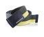 Pasek męski do spodni parciany Brodrene P16 oliwkowo-żółty