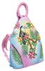 Plecak damski różowy skórzany ręcznie malowany LB-1902-ART-04 PINK